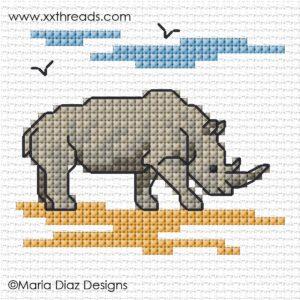 XX-patroon De Dag van de Neushoorn Rhino SIMU