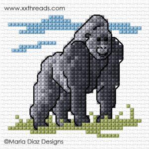 XX-patroon De Dag van de Gorilla SIMU